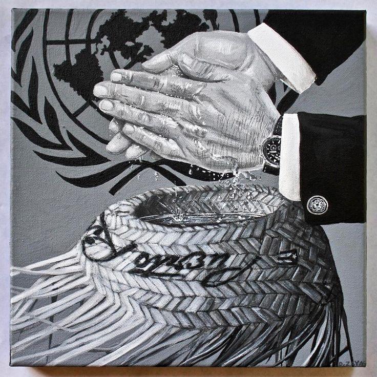 """""""PILATE""""   2017  Pintura industrial sobre tela  12""""x12""""  Por David Zayas @zayasart para la exhibición colectiva CITICIEN, destacando 100 artistas puertorriqueños en el centenario del pasaje de la Ley Jones-Shafroth @ The Clemente Soto Velez Cultural and Educational Center  @theclemente , NY   #davidzayas #zayasart #defendpuertorico #defendpr #leyjones #actjones #onu #UN #clementesotovelez #colonia #pilatos #pilate #pontiuspilate #ponciopilatos #artecontemporaneo #contemporaryart"""