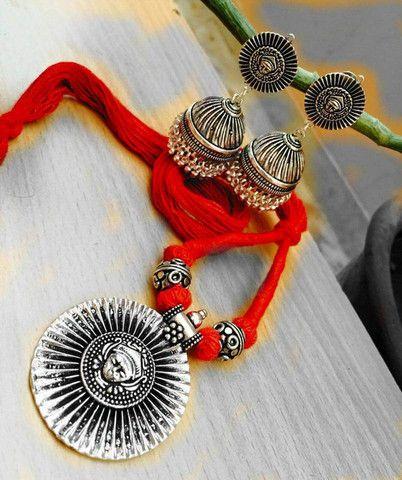 Beautiful oxidised german silver necklet