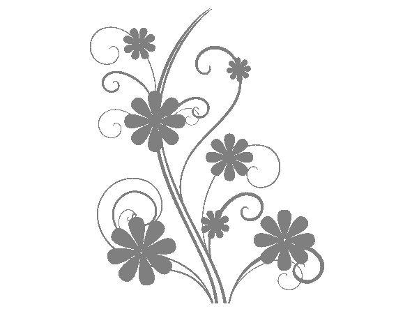 """. Vinilo Floral Modern Flowers"""" 01372 - Tienda online de vinilos decorativos, stickers, wall art, decoración"""