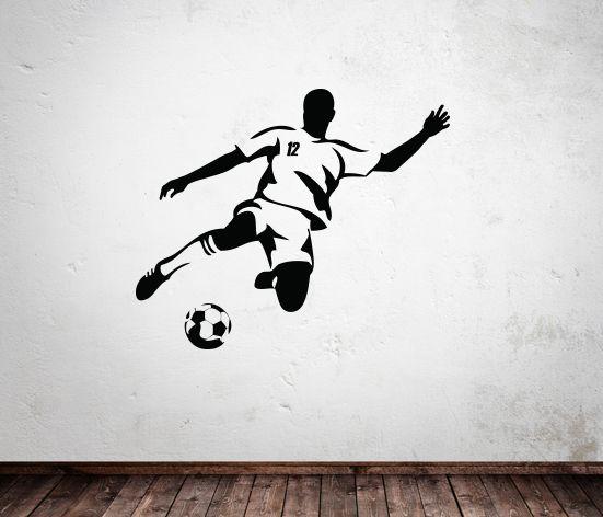 VÄGGDEKOR Fotbollsspelare 3