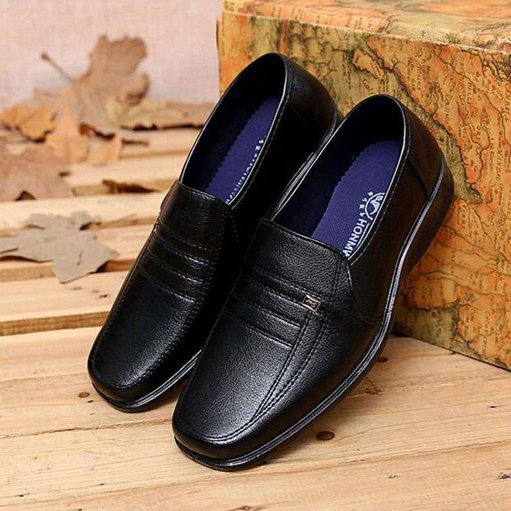 TOOGOO (R) NUEVOS zapatos de gamuza de cuero de estilo europeo oxfords de los hombres casuales Negro(tamano 42) MebihRXy95