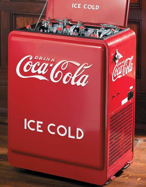 These Rolling Coca-Cola Coolers are the same one you saw at the barber shop or corner store.