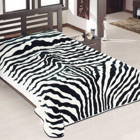Koc Amara zebra, 160x200 cm