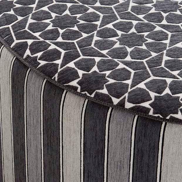Warwick Fabrics, MARISOL Collection #warwickfabrics #upholstery #textiles #ottoman