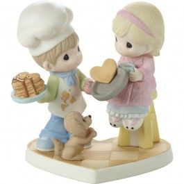 "Valentine's Day Gifts, ""You Make My Heart Flip"", Bisque Porcelain Figurine, #171034 - Precious Moments"