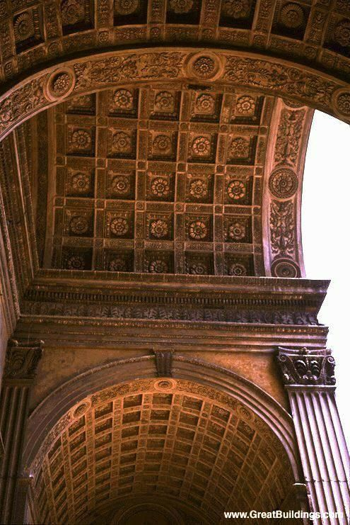 025-EARLY RENAISSANCE, Alberti; Narthex with its own system of coffered barrel vaults at the facade of Sant' Andrea, by Alberti, Mantua