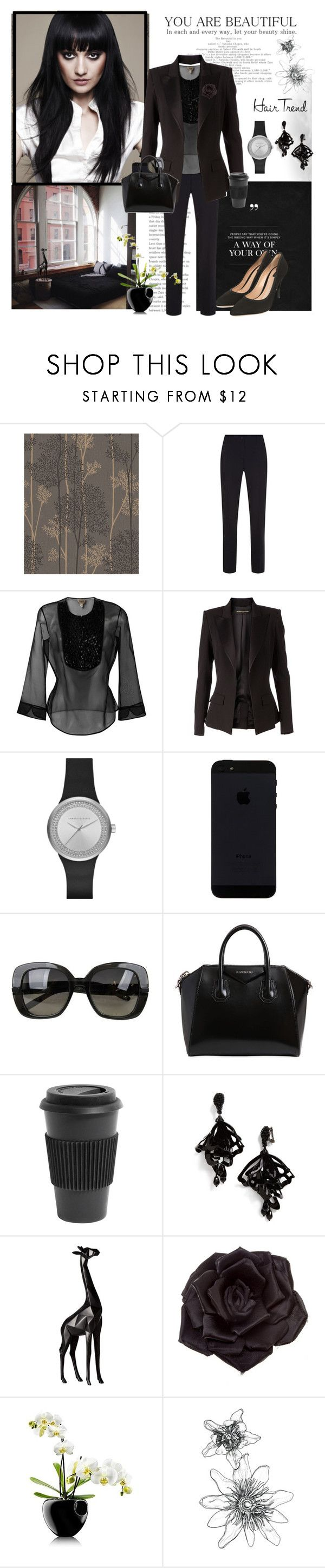 """Matchy-match hair trend"" by krystalkm-7 ❤ liked on Polyvore featuring Graham & Brown, Balmain, Armani Collezioni, Alexandre Vauthier, Armani Exchange, Bottega Veneta, Givenchy, Homage, Oscar de la Renta and Torre & Tagus"