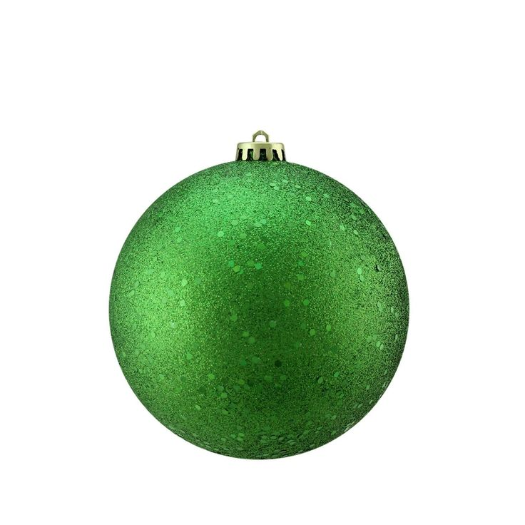 Xmas Green Holographic Glitter Shatterproof Christmas Ball Ornament 6 (150mm)
