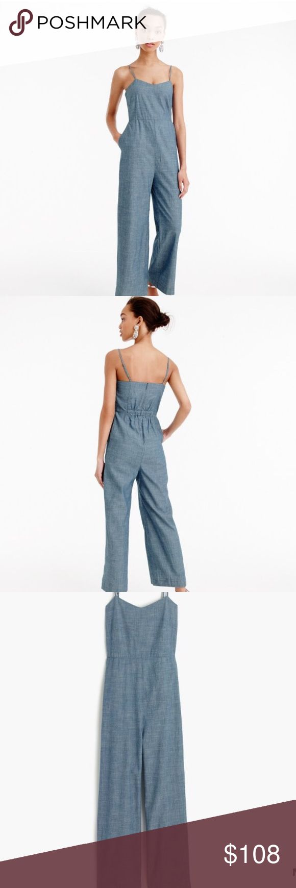 J. Crew Chambray Jumpsuit Like New (only worn once) J. Crew Chambray Jumpsuit J. Crew Pants Jumpsuits & Rompers