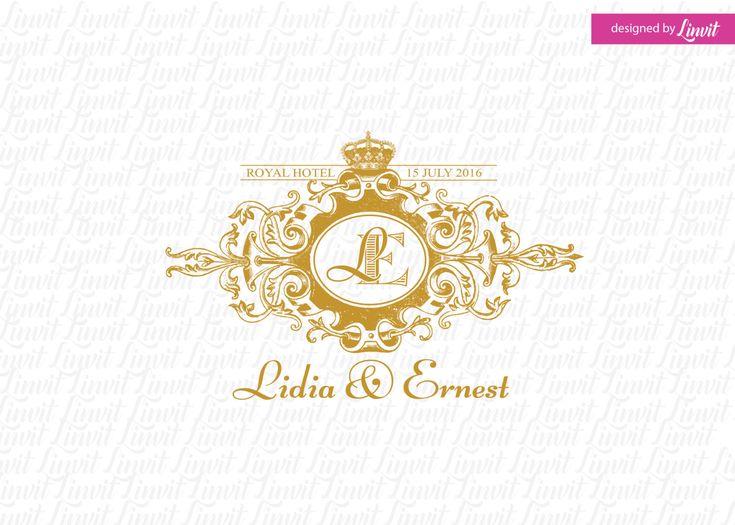 royal wedding monogram -wedding logo-wedding crest-custom wedding monogram-signo-monograma-monograma de la boda-signo de la boda- by Linvit on Etsy