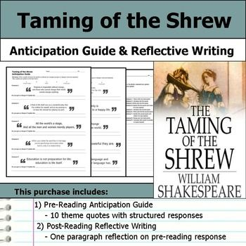 taming of the shrew anticipation guide