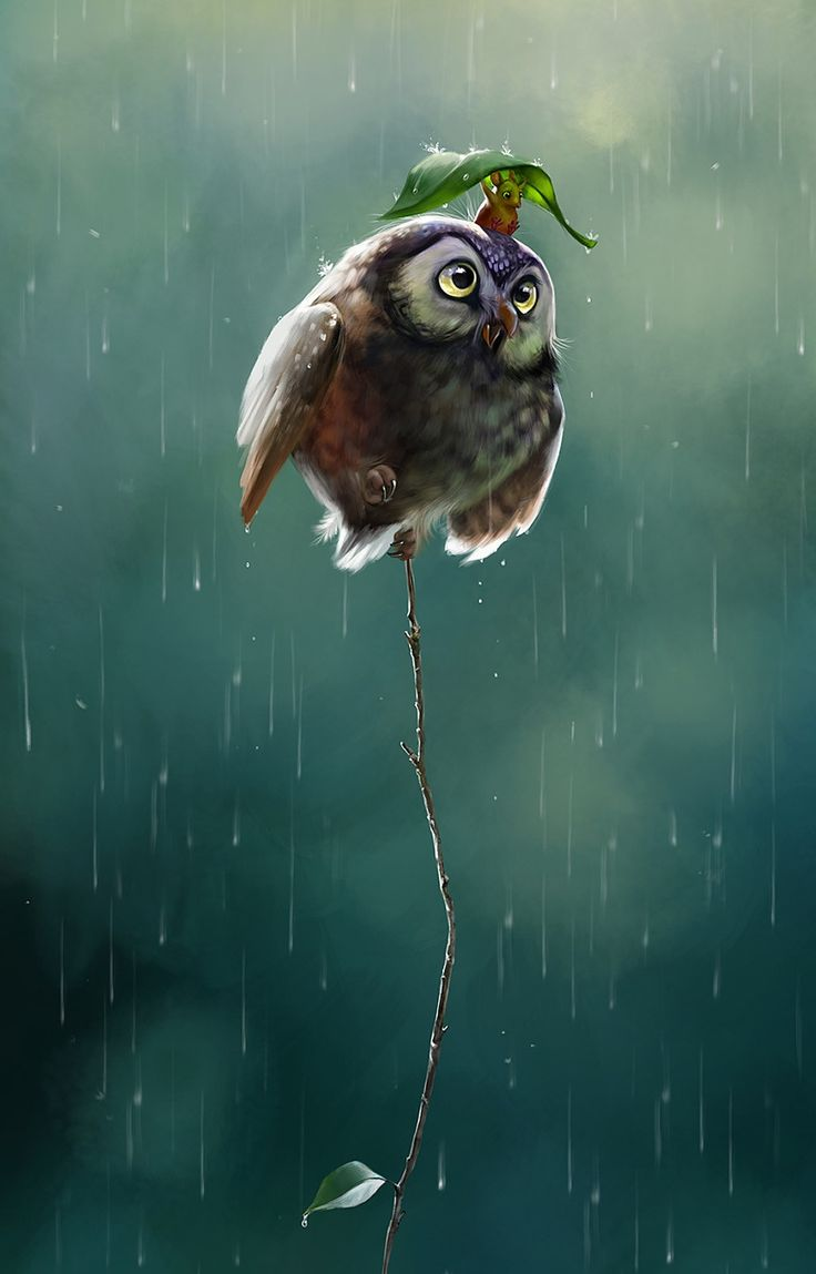 So cute and such a beautiful piece of digital art!