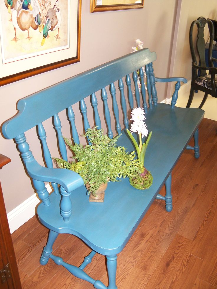 Deacon S Bench Painted With Annie Sloan Chalk Paint In