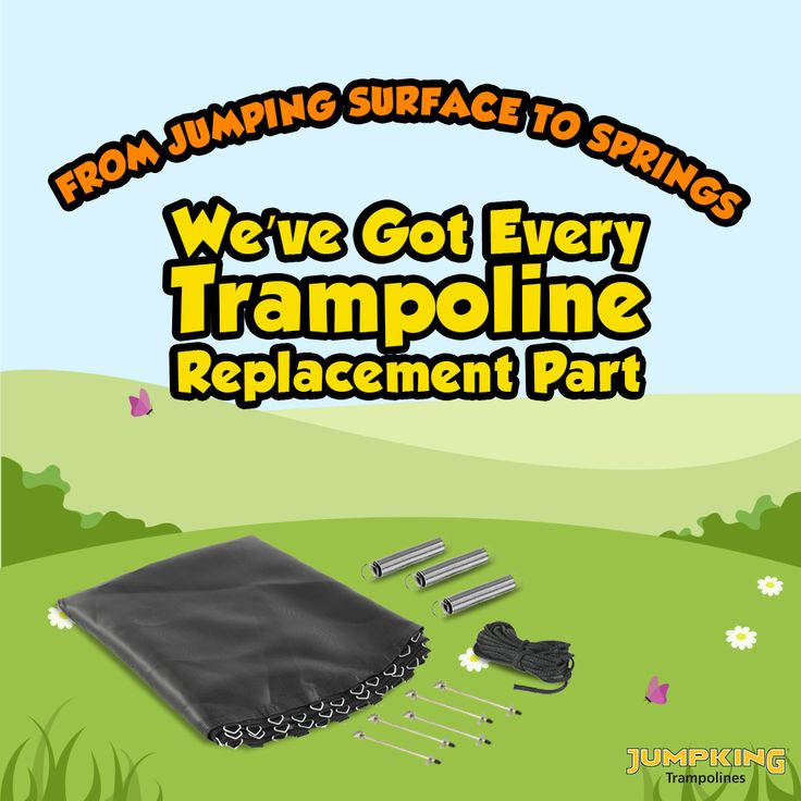 From Jumping Surface to springs. We've got every trampoline replacement part that you might need!  #Trampolines #TrampolineReplacementParts #Springs #JumpingSurface