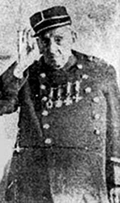 Carlos Timoteo Canifrú, Veterano del 79 Old Veteran of the Pacific War, Carlos Timoteo Canifrù. Showing medals of honour. He faught bravely at the Pacific War 1879-1884