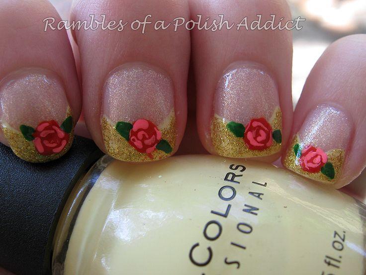 disney nai art | Disney nail art challenge day 15: Princess Belle | Rambles of a Polish ...