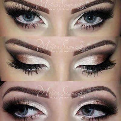 Champagne Gold And Black Eye Makeup Makeup And Beauty