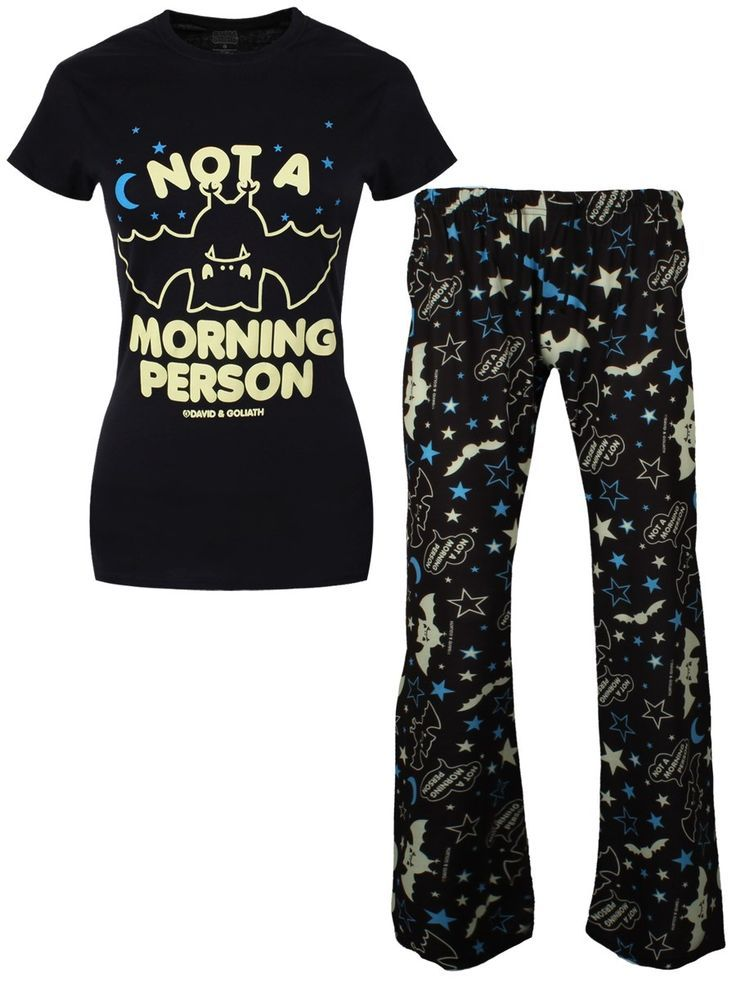 David & Goliath Not A Morning Person Ladies Pyjama Set