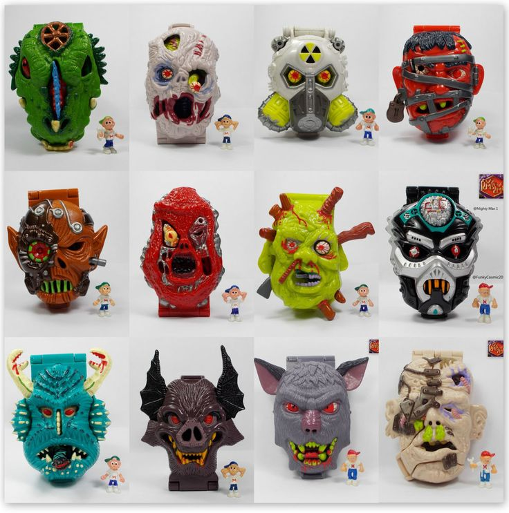 Mighty Max - Horror Heads - Bluebird Toys - Micro Figure Playsets - 30.03.2015