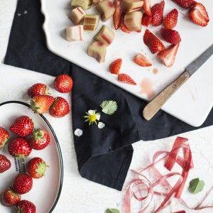 Erdbeeren und Rhabarber Rezept
