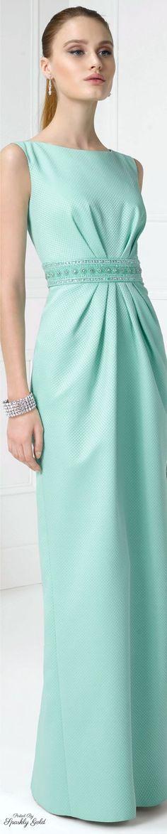 @roressclothes clothing ideas #women fashion cyan long dress