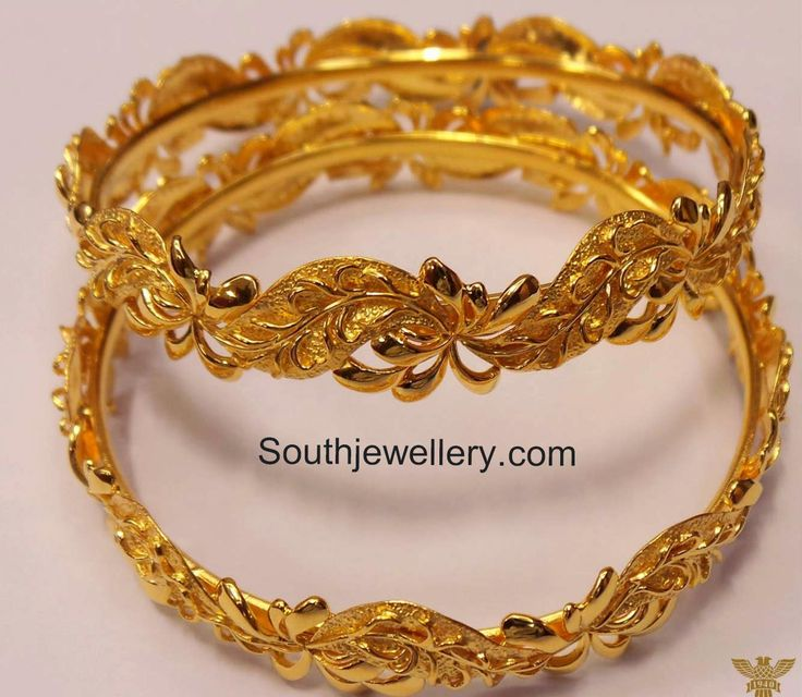 latest plain gold bangles designs