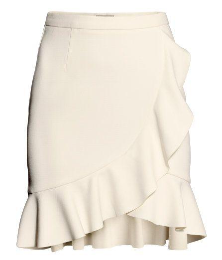 H&M Ruffle Skirt Beige