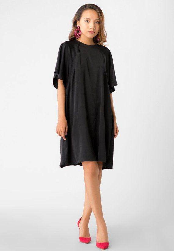6b619b0f33 Little Black Dress - Simple Silk Dress - Mini Dress - Simple Travel Dress  If youre into looking classy and comfy with literally zero effo…