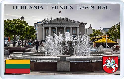 Acrylic Fridge Magnet: Lithuania. Vilnius Town Hall