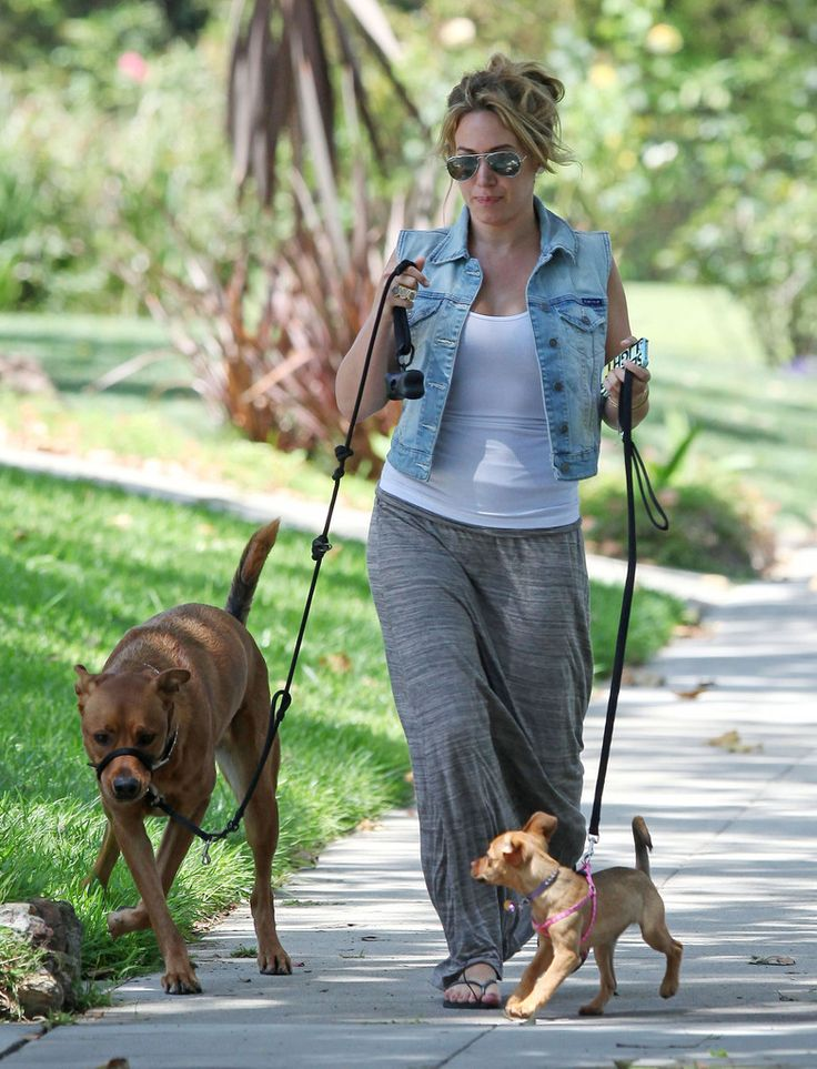 Haylie Duff Photos: Haylie Duff Out Walking Her Dogs