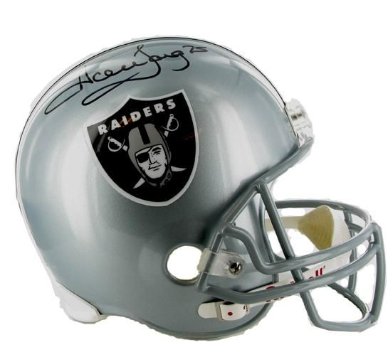 NFL Raiders Football Helmet autographed by Howie Long Raiders #75