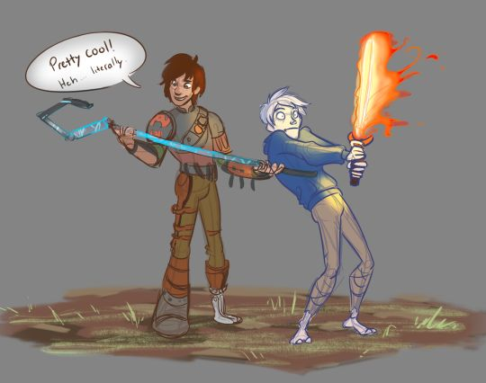 HAHAHAHA!<<JACK'S EXPRESSION THOUGH!!! Jack Frost, Hiccup Horrendous Haddock, Rise of the Brave Tangled Dragons