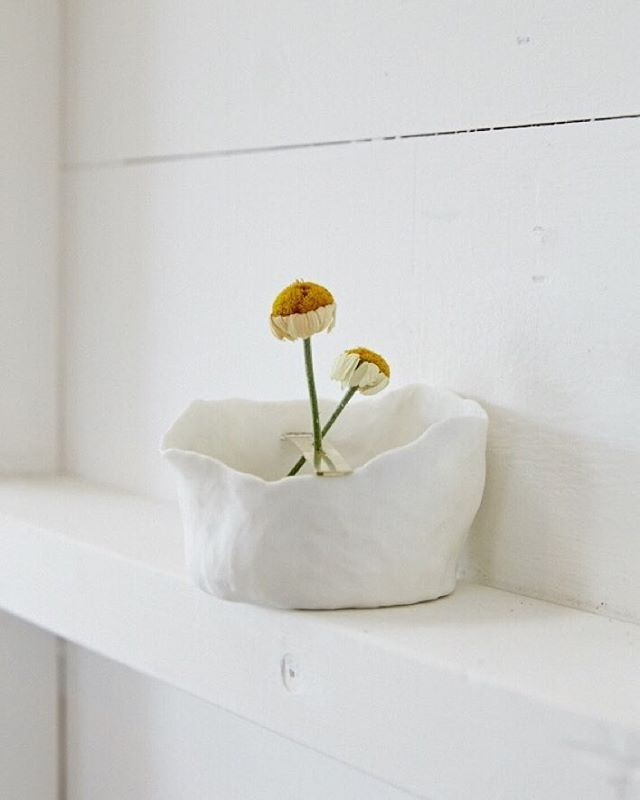 Detail of brass + porcelain foraging vessel  Photo by the ever lovely @lillie_thompson, taken @theestatetrentham.