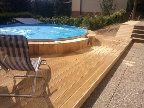 23 best Pool images on Pinterest Backyard lap pools, Garden - holzpool selber bauen