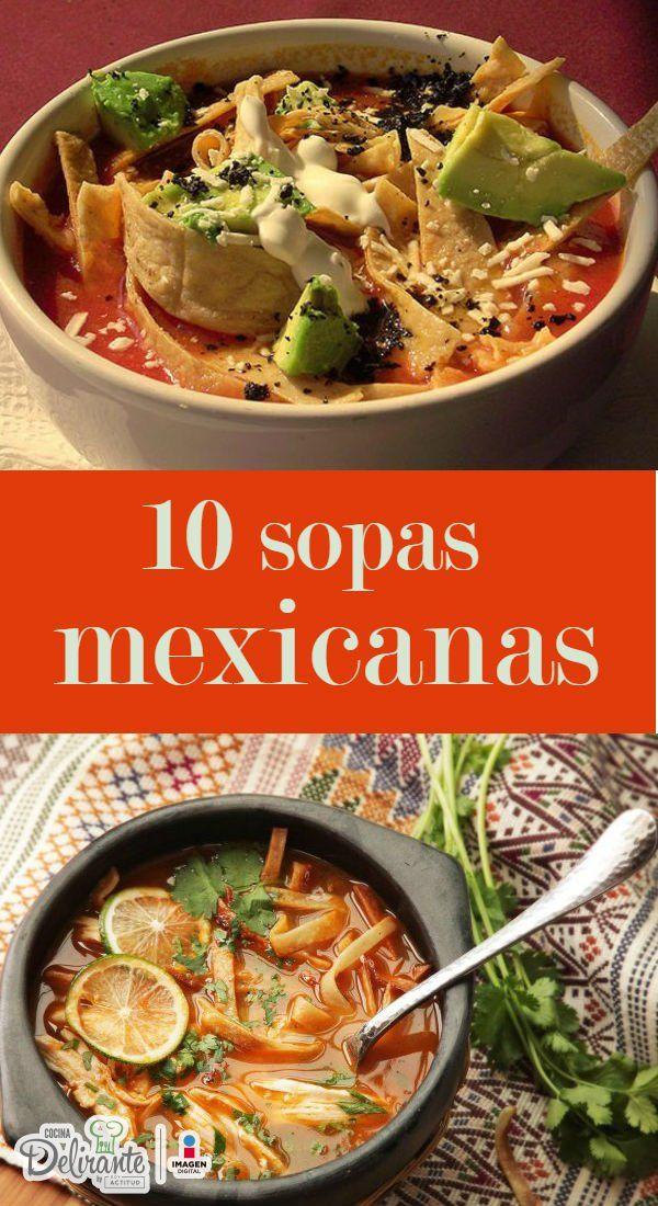 recetas de sopas mexicanas | CocinaDelirante