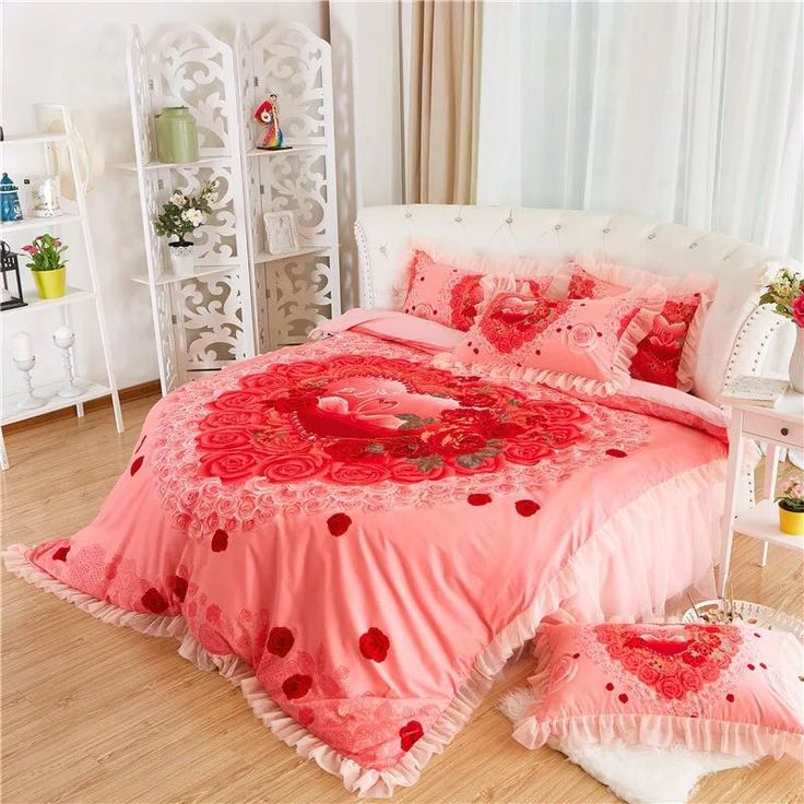 Find More Bedding Sets Information about Round Bed rose flower Bedding kit super california king size duvet cover set wedding bedding 4pcs set pillowcase purple bedskrit,High Quality bedding bargains,China bedding box Suppliers, Cheap bed removal from Queen King Bedding Set  on Aliexpress.com