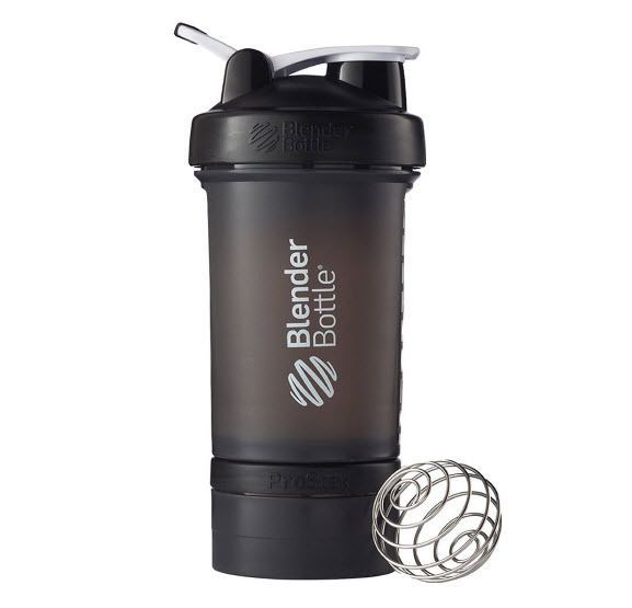 Fitness Gym Bottle Extra Jar Lid Powder Protein Pills Supplement Crossfit Black #BlenderBottle