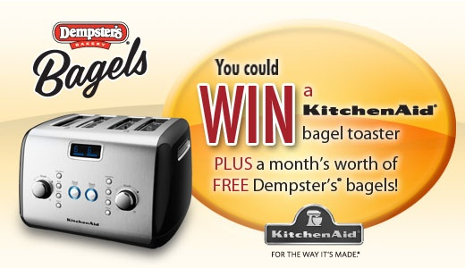 Tweet to WIN 1 of 5 prize $200 prize packs from our friends at DEMPSTERS! To enter, follow @Dempsters on Twitter & tweet which flavour of #DempstersBagels is your fave! Don't forget the hashtag!