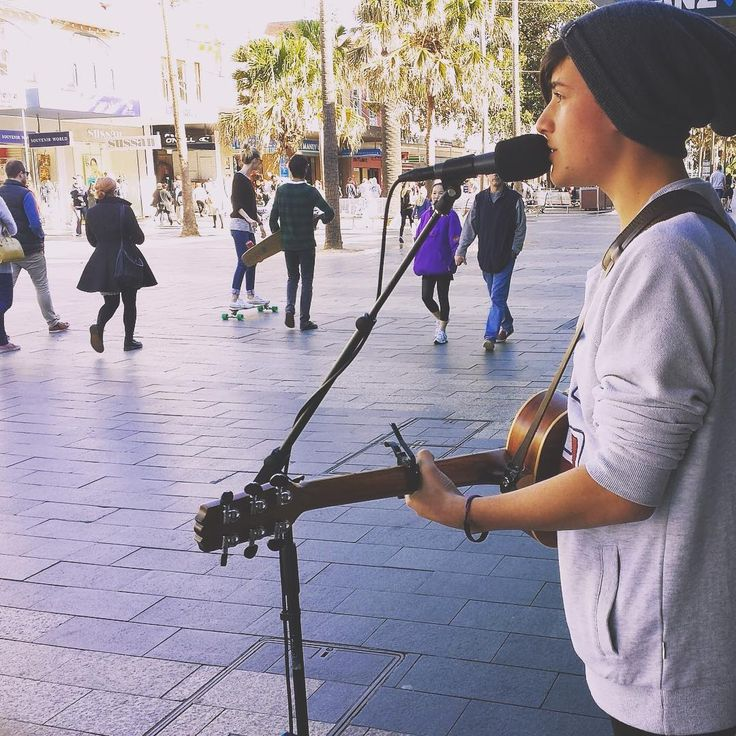 """// Flashback Friday... busking ages ago ☁️"""
