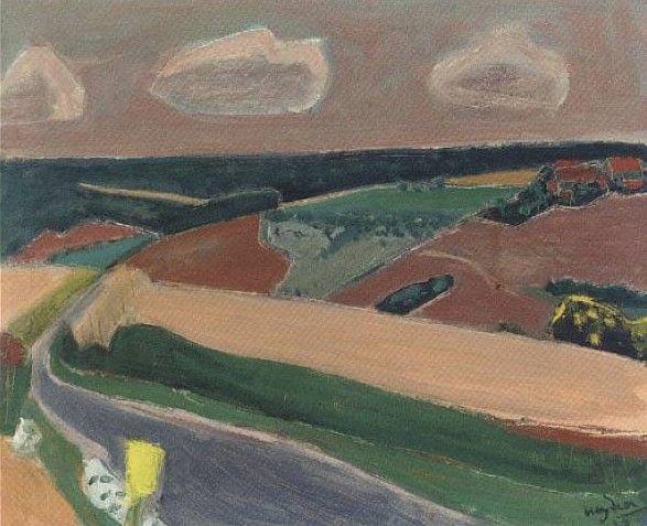 Henryk Hayden - paysage - 1959
