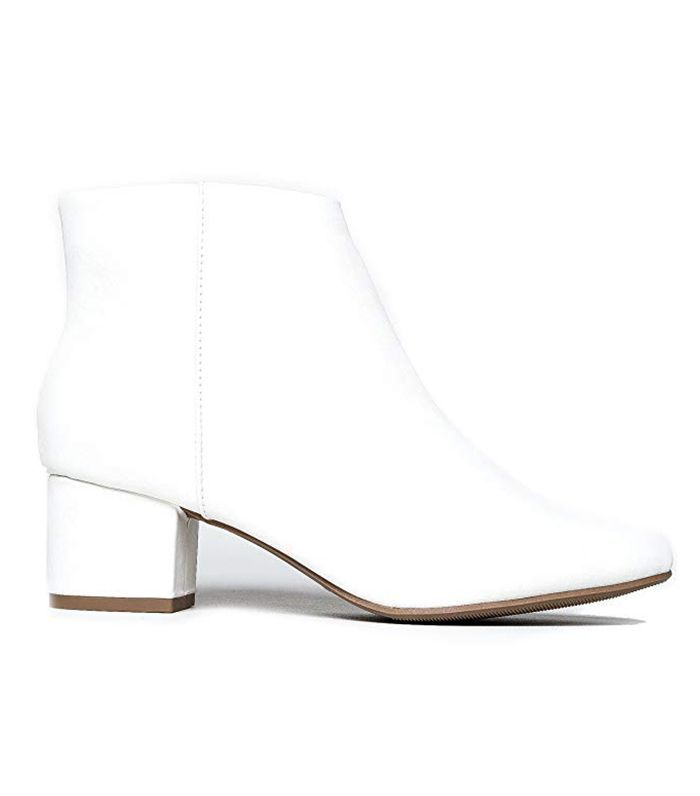 Low heel ankle boots, White ankle boots