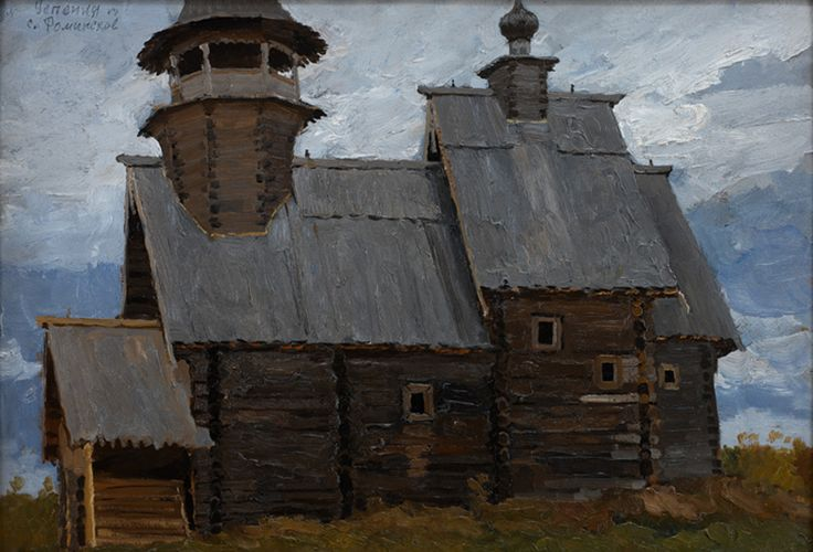 Stozharov, Vladimir Fedorovich. Kostroma, church of the Assumption, Fominsko Oil on board 22 x 31 3/8 Springville Museum of Art