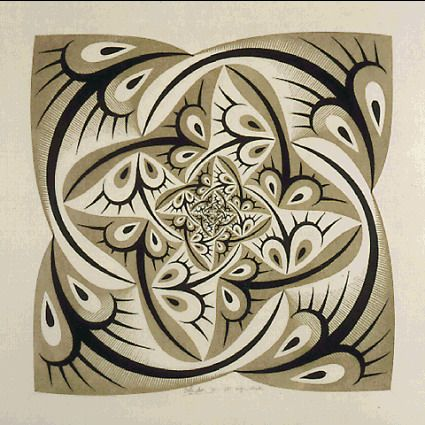 Path of Life II in Colour by M.C. Escher 1958