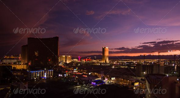 Las Vegas and Trump Tower by edan3. The Trump Tower illuminated by the setting sun