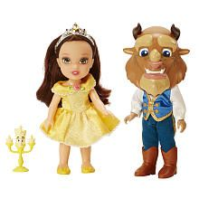 Disney Princess 6 inch Petite Belle and Beast Doll with Lumiere Gift Set