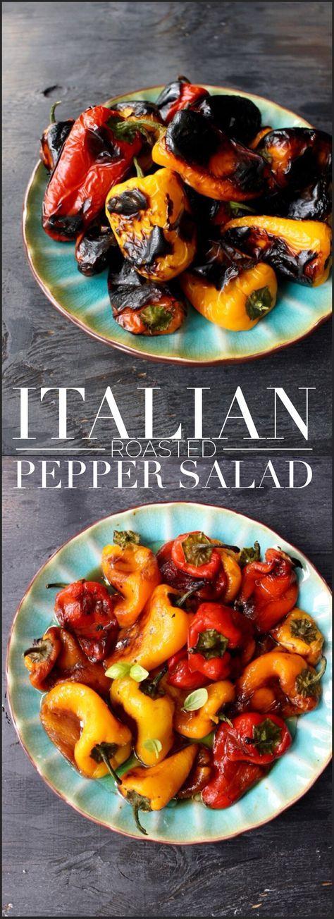 Italienischer gebratener Pfeffersalat   – Salads, Salads, Salads