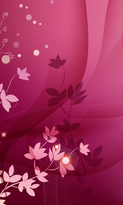 Pink Wallpaper Designs Mobile Cellphone Phone Wallpapers Leaves Backgrounds Cute Desk