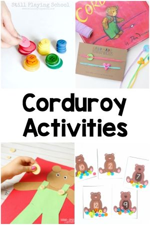From literacy to math to shapes and colors, these Corduroy activities extend the learning to many different subject areas and are sure to engage children!