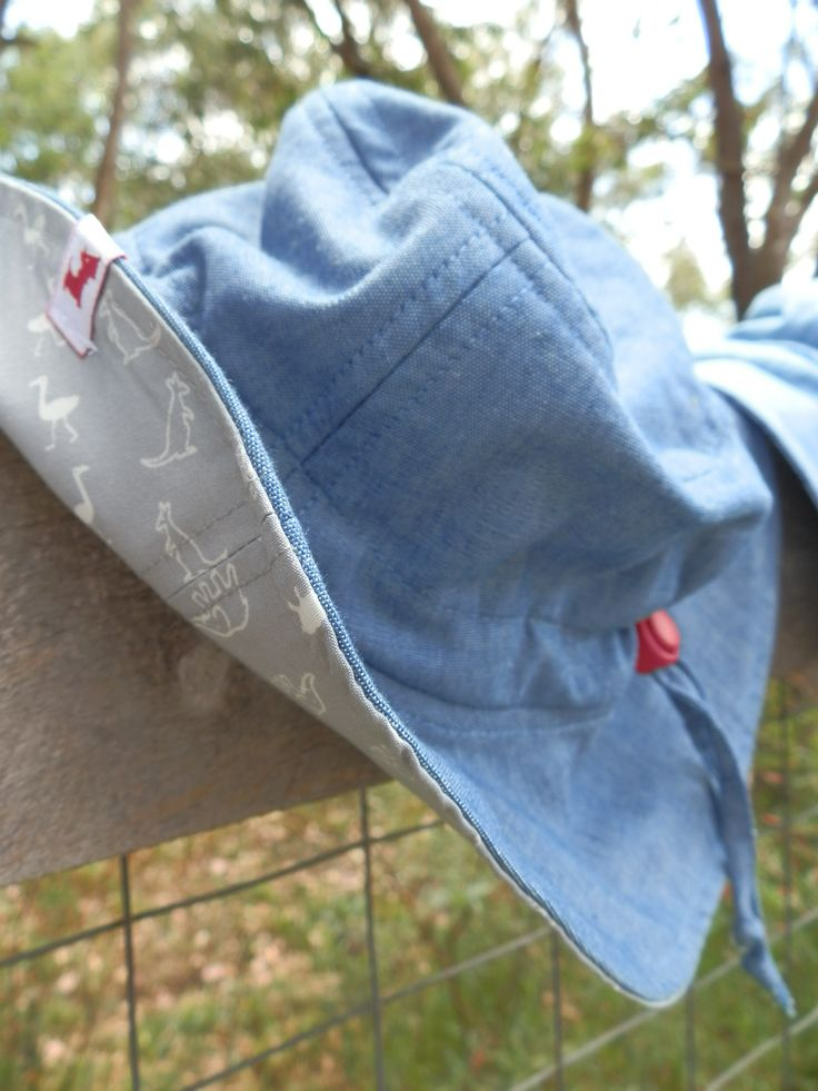 $29.95 - Boys Hat (Pets and Petals) UPF 50+. It has a front brim of 5.5cm, in accordance with Cancer Council recommendations, and a wider back brim for added neck protection. It's made from lightweight 100% cotton chambray with a polycotton SportsPlus® core for breathability and durability. With an adjustable drawstring & cordlock it fits Size Small (1-3) and Medium (4-6). It is 100% Australian made and designed with sun protection in mind. www.shadydays.com.au