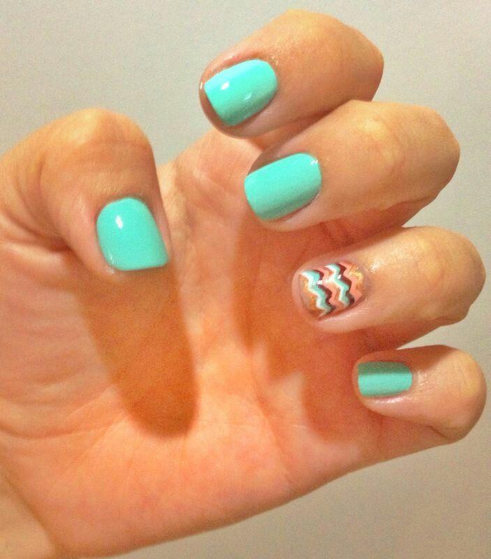 Menta & chocolate #nails #inspiration